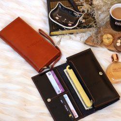 کیف پول چرم طبیعی دست ساز