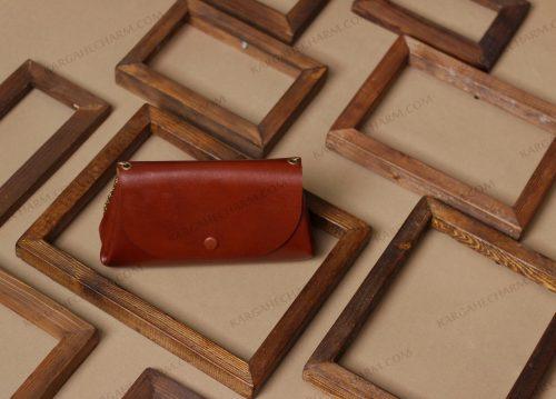 کیف پول چرم هنری رنگی خاص متفاوت