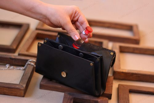 کیف پول چرم متفاوت رنگی دست ساز