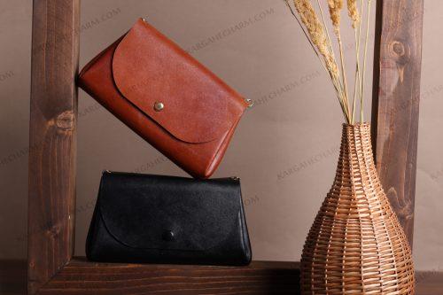 کیف پول چرم رنگی زینتی خاص هنری