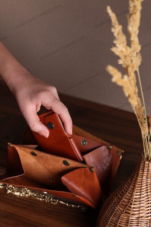 کیف پول چرم دست ساز تبلیغاتی متفاوت اداری