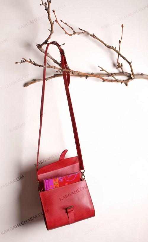 کیف چرم زنانه اسپورت جادار رنگی