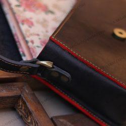 کیف چرم زنانه جادار دست دوز لوکس