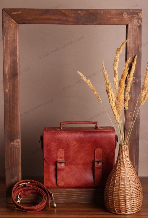 کیف چرم زنانه رنگی متفاوت هنری