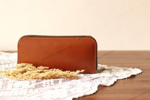 کیف پول چرم رنگی
