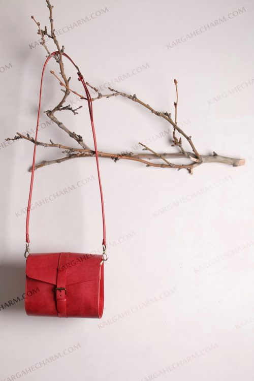 کیف چرم زنانه جادار آرایشی فانتزی