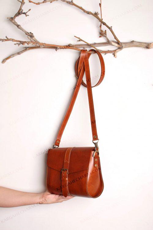 کیف چرم زنانه جادار طبیعی ضد آب