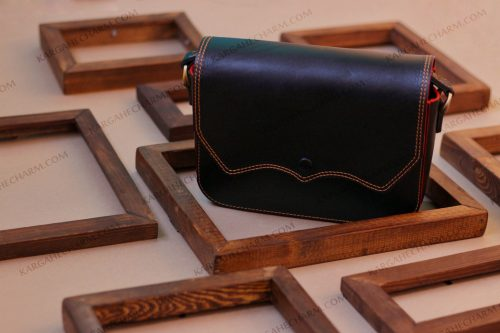 کیف چرم زنانه دست دوز زینتی رنگی
